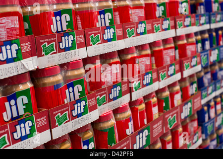 Jif peanut butter on display at a costco wholesale warehouse club jif peanut butter on display at a costco wholesale warehouse club stock photo thecheapjerseys Images