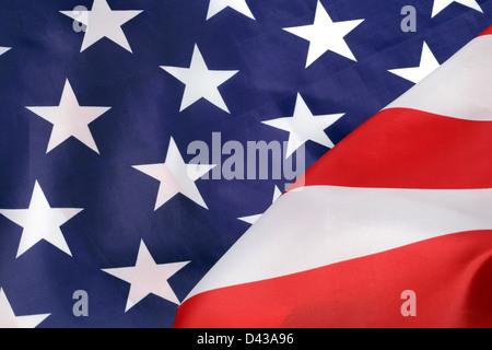 Part of U.S.A. flag, close-up - Stock Photo