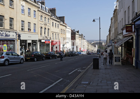 Looking down Park Street in Bristol City Centre - Stock Photo