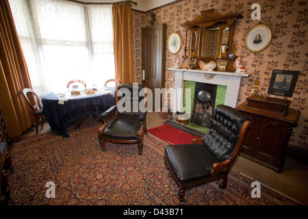 Captivating Living Room Tenement House Glasgow   Stock Photo Part 27