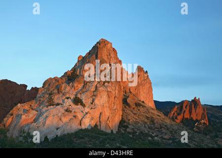 Gray Rock (Cathedral Rock), Garden of the Gods Park, Colorado Springs, Colorado USA - Stock Photo