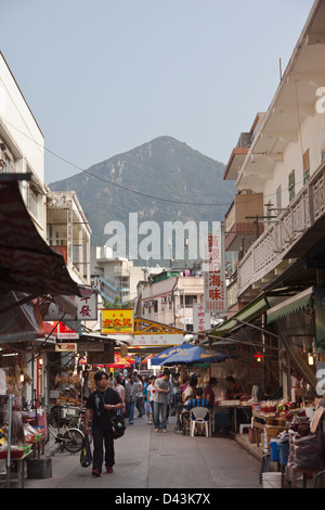 Tai O fishing village, Lantau Island, Hong Kong, China - Stock Photo