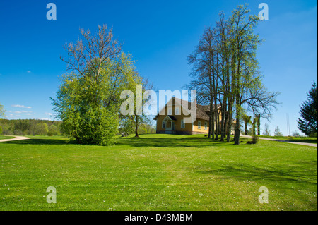 Big country house for all family.Latvia - Stock Photo