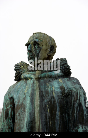 Roald Amundsen statue in Tromso troms Norway europe - Stock Photo