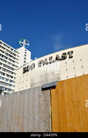 View of the former cinema Zoo Palast (Zoo Palace), which is currently under renovation, in Berlin, Germany, 9 October - Stock Photo