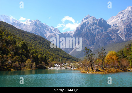 Mountain landscape in Lijiang, China. - Stock Photo