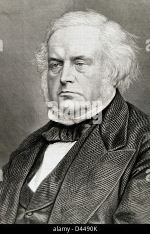 John Bright (1811-1889). British politician, member of the Liberal Party. Engraving. - Stock Photo