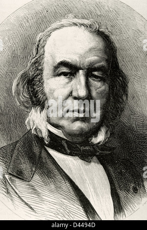 Claude Bernard (1813-1878). French physician and physiologist. Engraving at The Academy, 1878. Universal Illustrated - Stock Photo