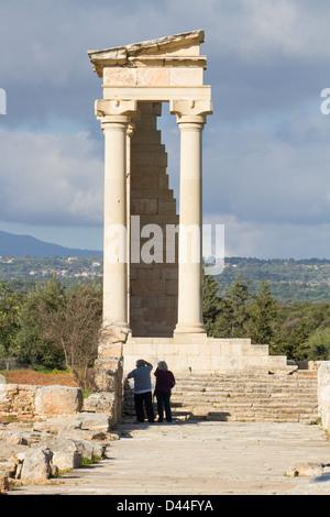 Temple at the Sanctuary of Apollo Hylates, Cyprus - Stock Photo
