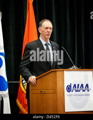 FAA Administrator Babbitt Speaks at Conference (201102090003HQ) - Stock Photo