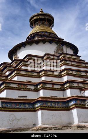Kumbum Chörten, Palkhor Chöde, Palcho Monastery, Gyantse, along Southern Friendship Highway,Tibet - Stock Photo