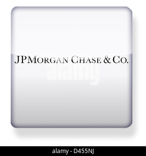 JP Morgan Chase logo as an app icon. Clipping path included. - Stock Photo