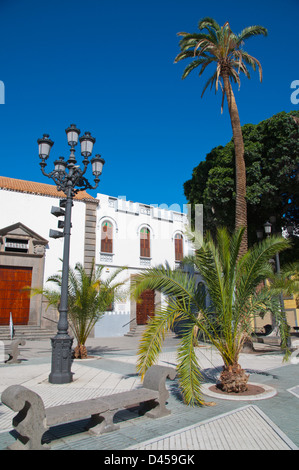Alameda de Colon square Triana district Las Palmas city Gran Canaria island the Canary Islands Spain Europe - Stock Photo