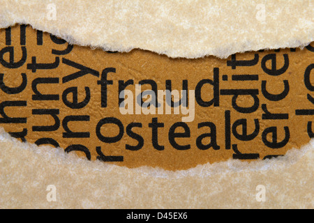Fraud steal text - Stock Photo