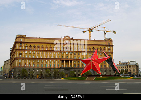 Russian secret service official head-quarter at Lubyanka Square, Moscow, Russia - Stock Photo