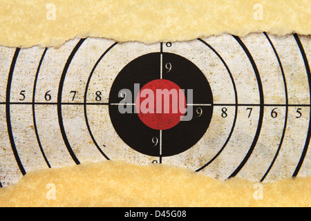 Target on paper hole - Stock Photo