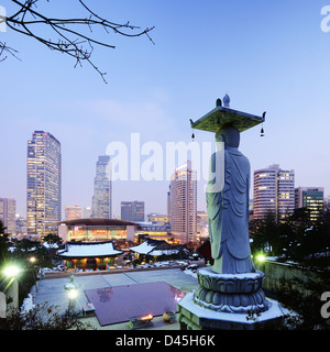 Bongeunsa Temple in the Gangnam District of Seoul, Korea. - Stock Photo