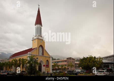 Notre Dame Cathedral, Papeete - Stock Photo