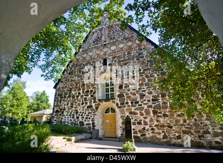 Finland, Turku Archipelago, Storlandet Island, the church of Nagu - Stock Photo