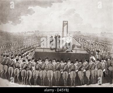 The execution of Louis XVI, 21 January 1793, Place de la Révolution, Paris, during the French Revolution. - Stock Photo