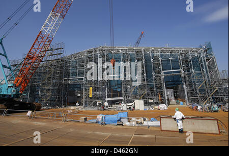 Fukushima, Japan. 6th March 2013. Being constructed Multi-nuclide removal facility is seen  at Tokyo Electric Power - Stock Photo