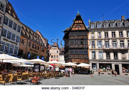 Maison Kammerzell, Strasbourg, Bas-Rhin, 67, Alsace, France - Stock Photo
