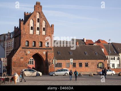 Wassertor, Wismar, Mecklenburg Vorpommern, Germany - Stock Photo