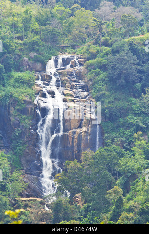 SMALLER OF THE TWO WATERFALLS IN THE ELLA AREA THE LITTLE RAVANA FALLS - Stock Photo