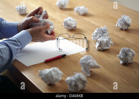Frustration stress and writers block - Stock Photo