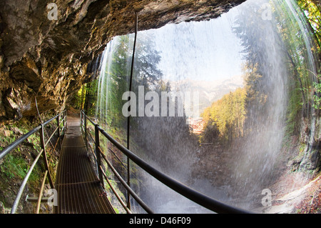 Under the waterfall - Stock Photo