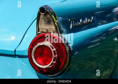 1956 Ford Thunderbird, Antique Car Show, Sully Historic Site, Chantilly, Virginia - Stock Photo