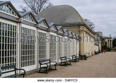 The pavilion at Sheffield Botanical Gardens - Stock Photo