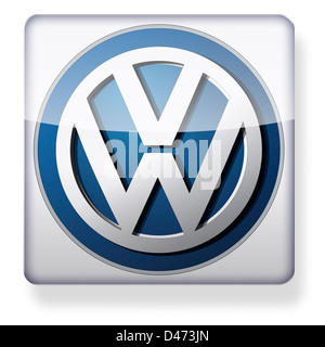 VW logo as an app icon. Clipping path included. - Stock Photo