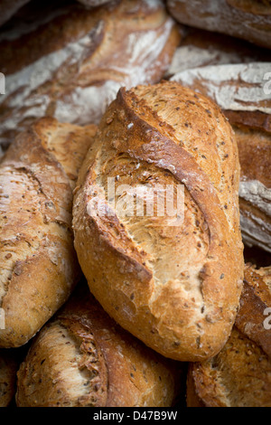 A Display Of Several Types Breads France Loaves Presentation De Differents