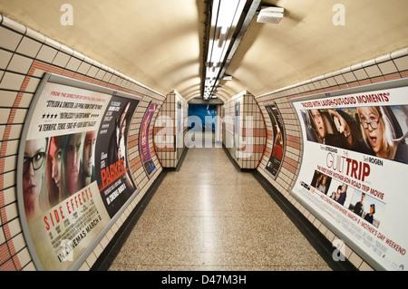 Baker Street tube station corridor, London, UK - Stock Photo