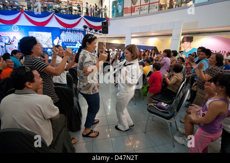 Members of the U.S. 7th Fleet Band, Pacific Ambassadors, perform for more than 3,600 people at SM City North ESDA - Stock Photo