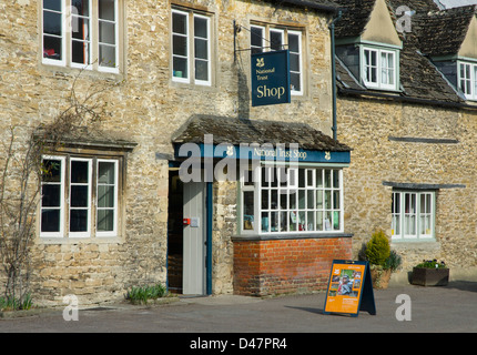The National Trust Shop in the historic village of Lacock, Wiltshire, England UK - Stock Photo