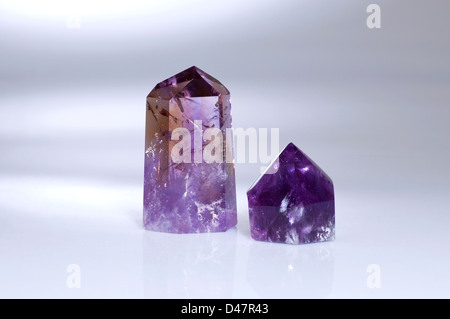 Two Amethyst Menhirs - Stock Photo