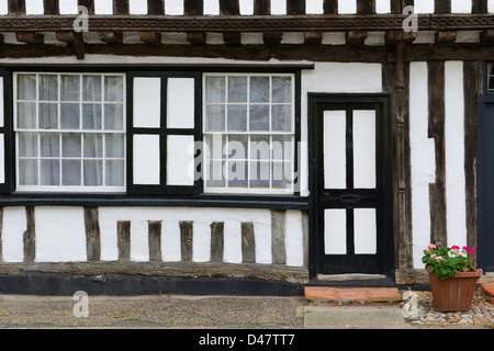 Tudor style house in Debenham, England - Stock Photo
