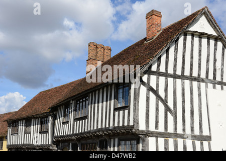 Tudor style house in Lavenham, England - Stock Photo