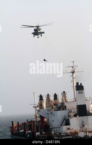 A helicopter conducts a medical evacuation. - Stock Photo