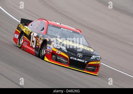 March 7, 2013 - Las Vegas, NV, U.S. - LAS VEGAS, NV - MAR 07, 2013: Clint Bowyer (15) brings his 5-hour Energy Toyota - Stock Photo