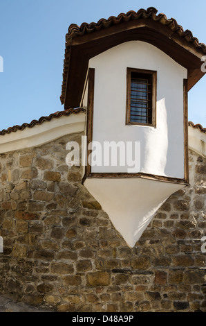 Watchtower built on a stone wall in Plovdiv Bulgaria Balkans Eastern Europe - Stock Photo