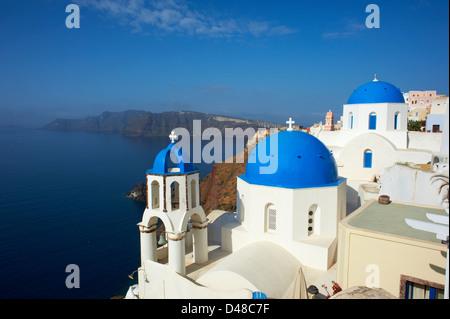 Greece, Cyclades, Santorini island, oia (Ia) village - Stock Photo