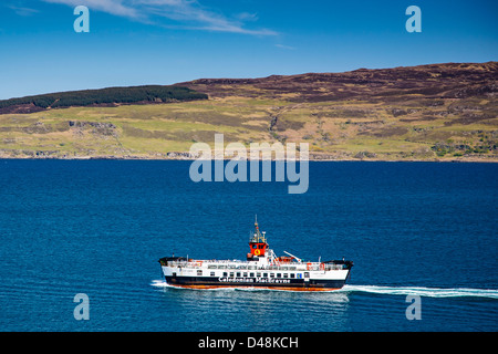 Calmac ferry from Tobermory, Isle of Mull, Scotland uk - Stock Photo