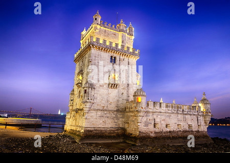 Belem tower in Lisbon city, Portugal - Stock Photo