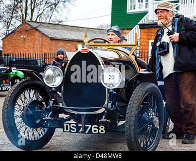 1924 Bugatti T13 Brescia. VSCC event, Brooklands, Weybridge Surrey uk - Stock Photo