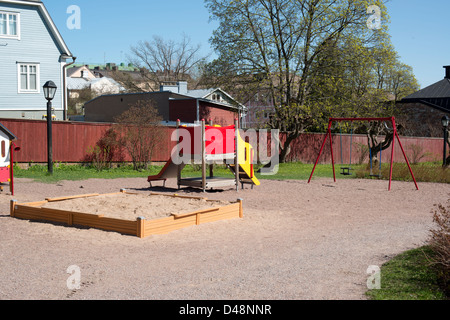 Playground with several playing tools - Stock Photo