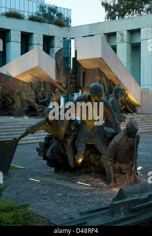 Warsaw, Poland, Warsaw Uprising Monument Square on Krasinki - Stock Photo