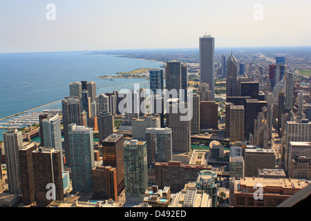 Chicago view from Sears Tower, Usa - Stock Photo